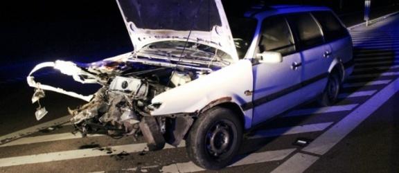 Zderzenie dwóch samochodów na berlince