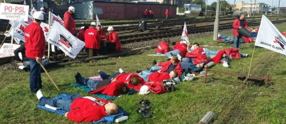 Górnicy zakończyli protest w Braniewie - zobacz zdjęcia i film