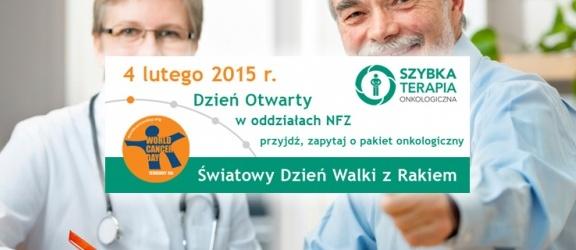 4 lutego Światowy Dzień Walki z Rakiem i Dzień Otwarty w NFZ