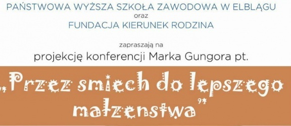 Konferencjia Marka Gungora w PWSZ w Elblągu