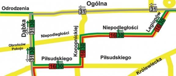 Komunikat ZKM - objazdy na liniach 16, 30 i 31