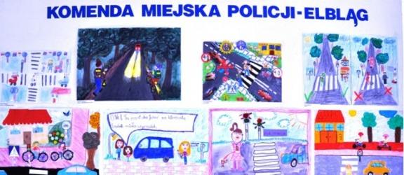 """Nagrody dla dzieci w konkursie """"Bezpieczni w ruchu drogowym"""