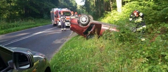 Funkcjonariuszka Straży Granicznej udzieliła pomocy poszkodowanej w wypadku drogowym.