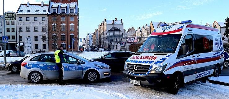 Potrącenie pieszej w centrum Elbląga (+ zdjęcia)