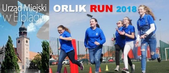 Eliminacje Rodzinnych Biegów Osiedlowych Orlik Run 2018. Organizatorem SP nr 16 w Elblągu