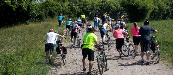 Rowerzyści odwiedzili Kaperski Suchacz (fotorelacja)