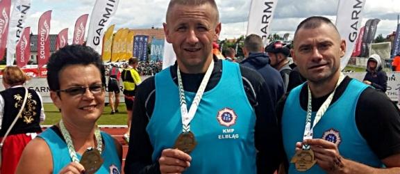 Policjanci z Elbląga zajęli II miejsce w Firmowych Mistrzostwach Sztafet Garmin Iron Triathlon Stężyca 2018!
