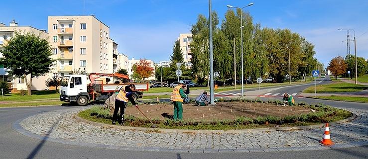 Trwają prace przy rondzie w dzielnicy Kamionka. Już 13 X otwarcie ronda Obrońców Birczy