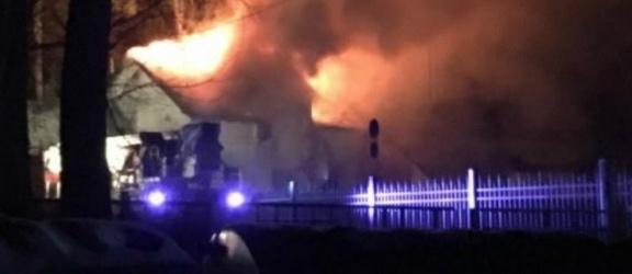 Drulity, gm. Pasłęk. Spłonął dom wielorodzinny (+zdjęcia)