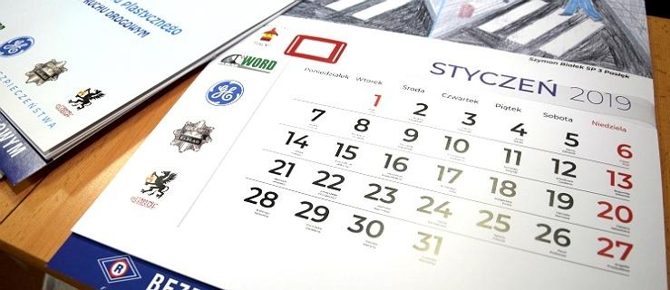 Prace tych elbląskich uczniów szkół podstawowych można zobaczyć w policyjnym kalendarzu