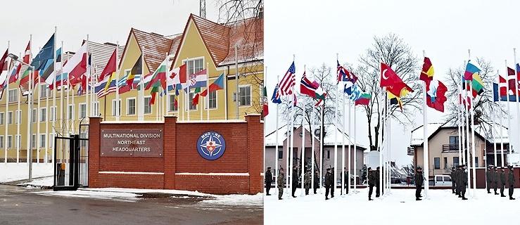 Podniesienie flag w nowej lokalizacji Dowództwa Wielonarodowej Dywizji (+ zdjęcia)