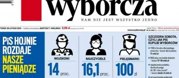Gazeta Wyborcza straszy... podwyżkami wynagrodzeń