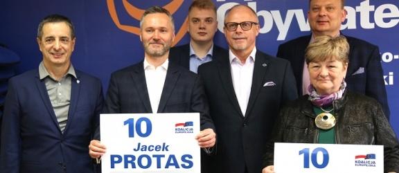 Jarosław Wałęsa i Jacek Protas w Elblągu. Chcą przywrócenia małego ruchu granicznego (+ zdjęcia)