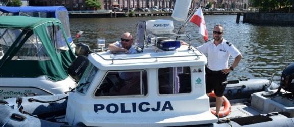Elbląg: Policjanci są również na wodzie