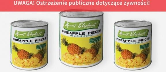 Drut w puszce z ananasami
