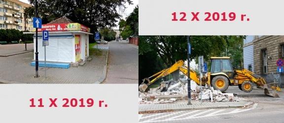 Kiosk w centrum Elbląga przeszedł do historii. Jakie wspomnienia macie z tym miejscem?