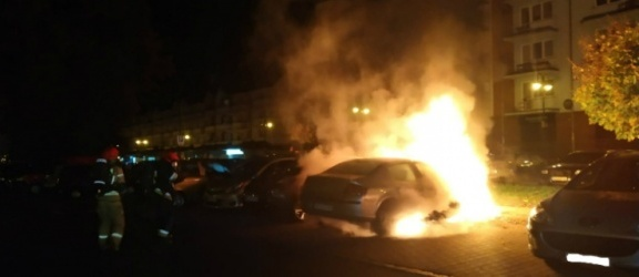 Elbląg. Pożar auta na ul. Bałuckiego