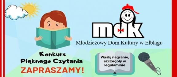 MDK w Elblągu organizuje Ogólnopolski Konkurs Pięknego Czytania. Weź udział!