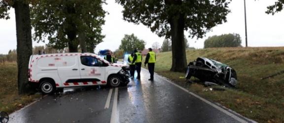 Pasłęk: Śmiertelny wypadek na drodze wojewódzkiej