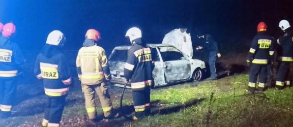 Płonął samochód osobowy