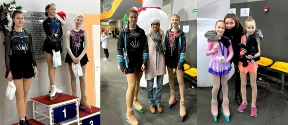 Łyżwiarki figurowe z Elbląga na podium w ogólnopolskich zawodach! (+ zdjęcia)