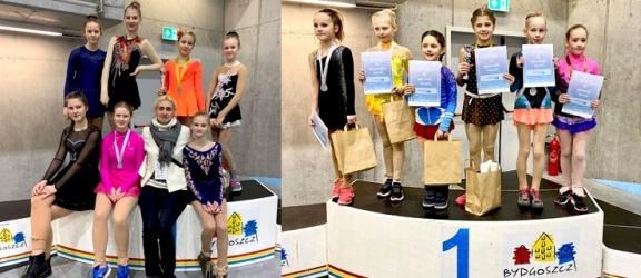 Worek medali łyżwiarzy figurowych z Elbląga na ogólnopolskich zawodach w Bydgoszczy (+ zdjęcia)