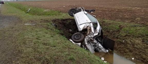 Wypadek pod Elblągiem. Jedna osoba w szpitalu