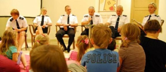 Elbląscy policjanci czytali dzieciom