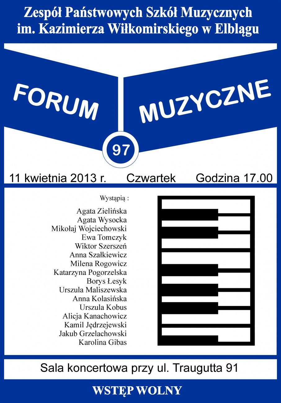 Zpsm zaprasza na koncert z cyklu forum muzyczne